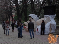 28.03.2015 - Арт инсталации на Чудомирови герои от НГПИД