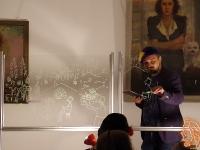 """19.04.2018 - Приказката """"Дърварят и змията"""" бе представена чрез рисване върху стъкло"""